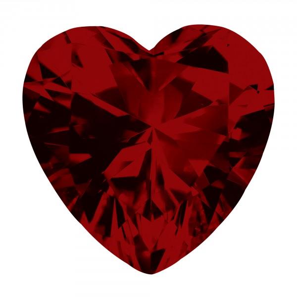 Ruby Heart Cut