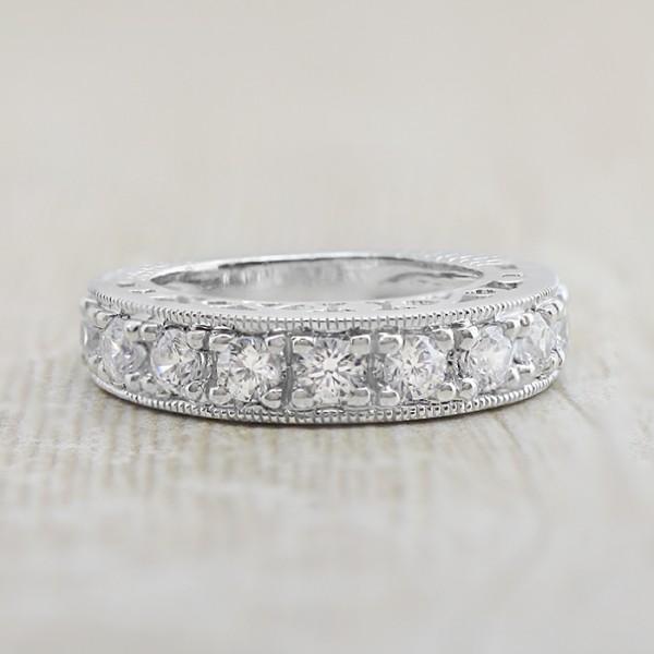 Herrera Matching Band - 14k White Gold - Ring Size 5.0-5.5