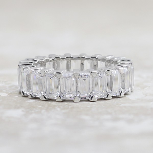 Heaven Sent - 6.67tcw, 14k White Gold - Size 5.5