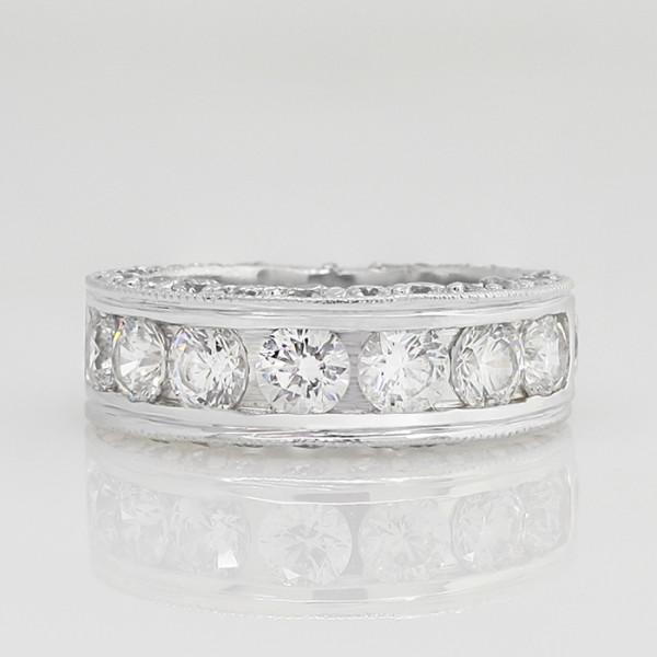 Retired Model Hypnotique Band - 14k White Gold - Ring Size 6.0