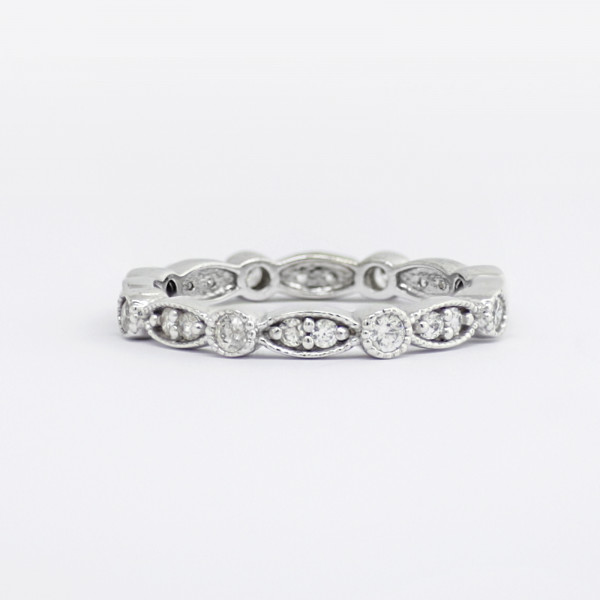 Infinite Grace Petite with 0.48 Total Carat Weight - 14k White Gold - Ring Size 6.5