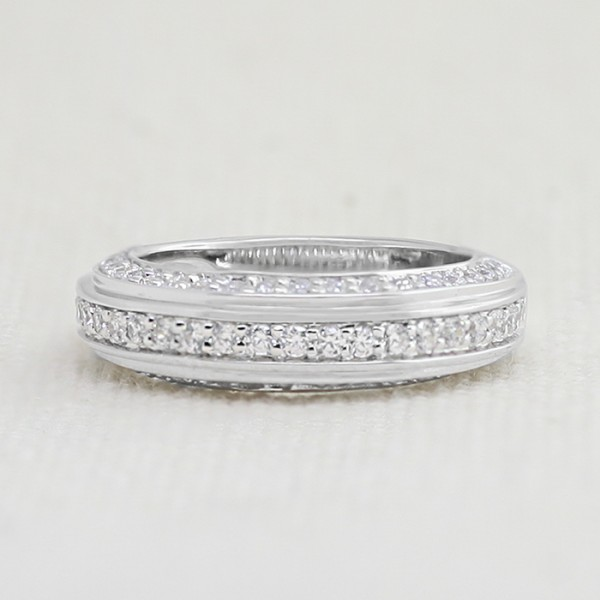 Karma Band with 0.75 Total Carats - 14k White Gold - Ring Size 7.25-8.25