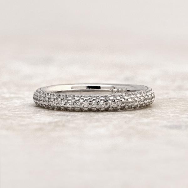 Discontinued La Boheme Matching Band - 14k White Gold - Ring Size 7.0