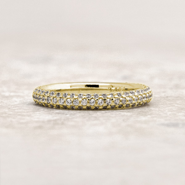 Discontinued La Boheme Matching Band - 14k Yellow Gold - Ring Size 8.0