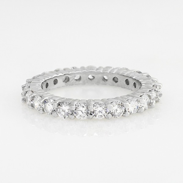Discontinued Touch of Paradise with 2.00 total carats - 14k White Gold - Ring size - 6.0