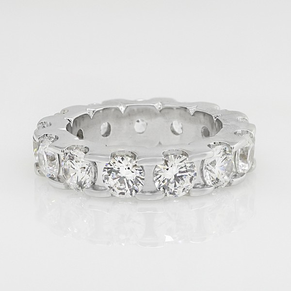 Custom Oasis Eternity Band - 4.68 Total Carat Weight - 14k White Gold -Ring Size 6.0
