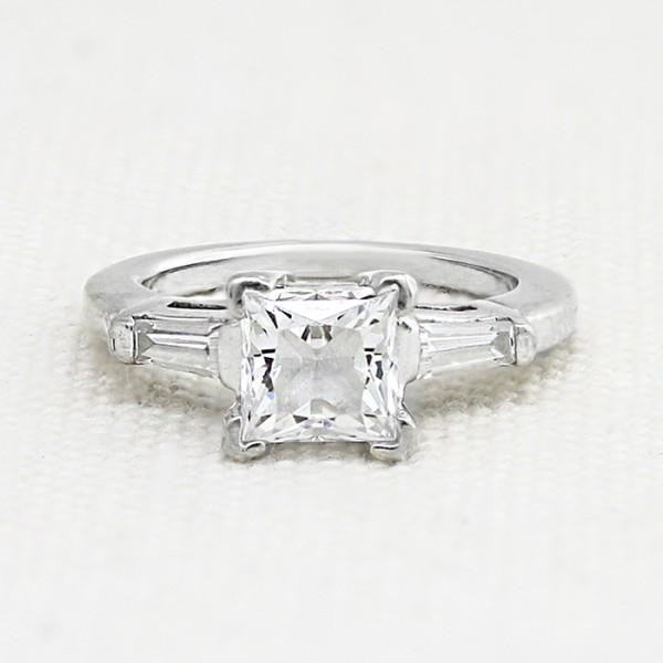 Endless Days with 1.59 carat Princess Center - Platinum - Ring Size 6.25-8.25