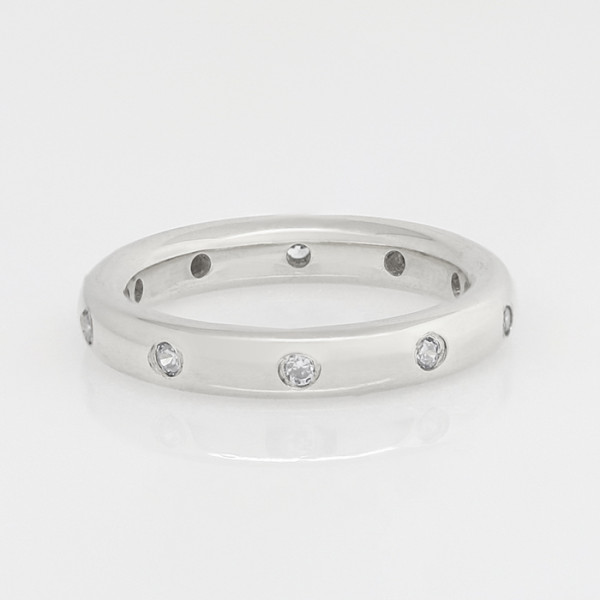 Discontinued Comet Theater Matching Band with 0.3 Total Carat Weight - 14k White Gold - Ring Size 8.25