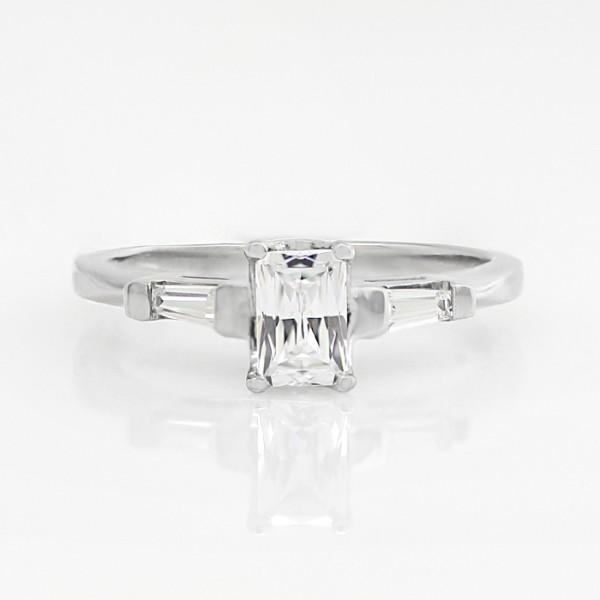 Endless Days with 0.66 carat Radiant Center - Palladium - Ring Size 7.75-9.75