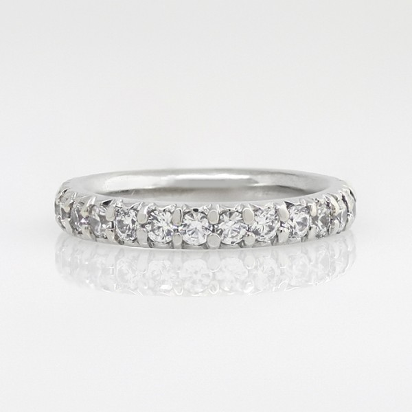 Gwyneth Matching Band - 14k White Gold - Ring Size 6.5-9.5