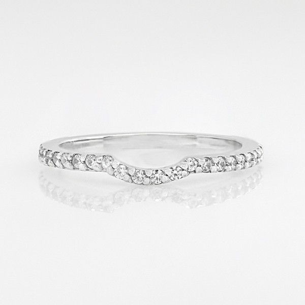 Bella Vista Matching Band - 14k White Gold - Ring Size 6.75