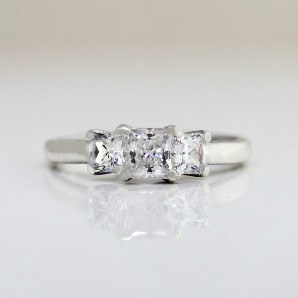 In the Vineyard with 0.71 carat Princess Center - Lorian Platinum - Ring Size 8.0
