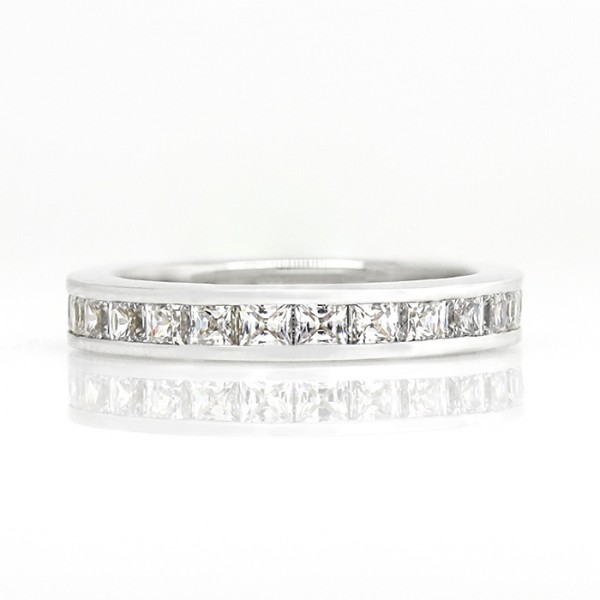 Old-Style Simple Pleasures with 2.50 Total Carat Weight - 14k White Gold - Ring Size 4.5