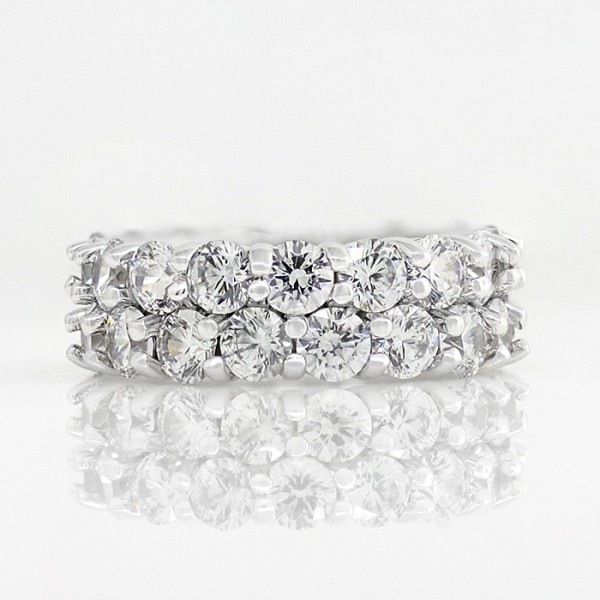 Retired Model Destiny's Desire with 6.72 Total Carat Weight - 14k White gold - Ring size 4.0