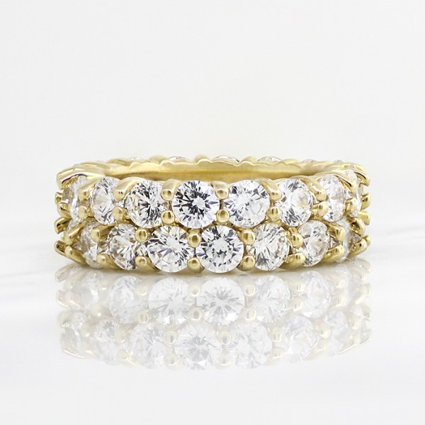 Retired Model Destiny's Desire with 6.72 Total Carat Weight - 14k Yellow gold - Ring size 7.5