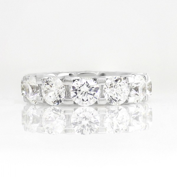 Retired Model Oasis with 5.72 total carats - 14K White Gold - Ring Size 8.5