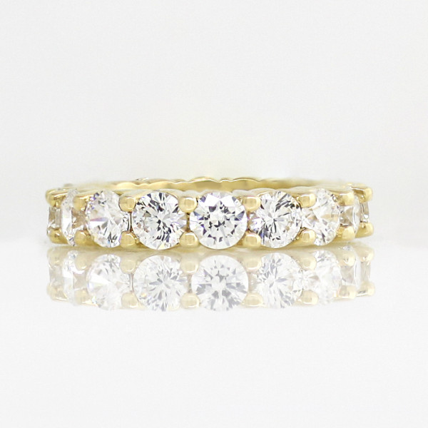 Retired Model Touch of Paradise with 3.75 total carats - 14k Yellow Gold - Ring Size - 5.75
