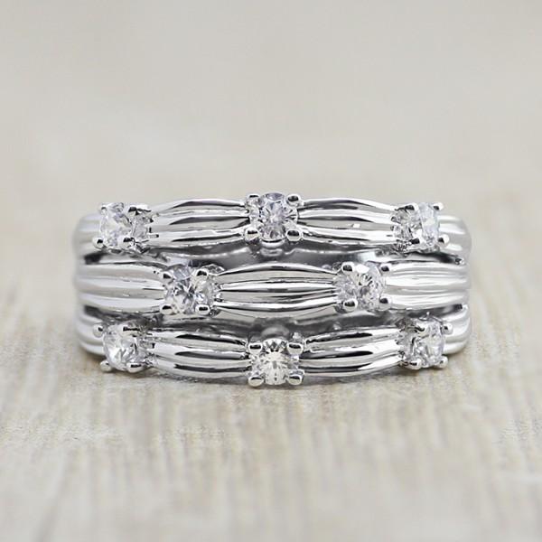 Weave Ring - Lorian Platinum - Ring Size 7.5