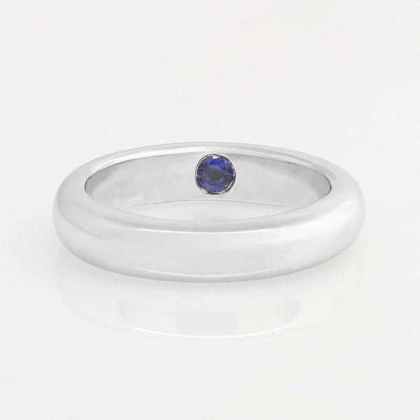 Something Blue Band - 14k White Gold - Ring Size 7.25