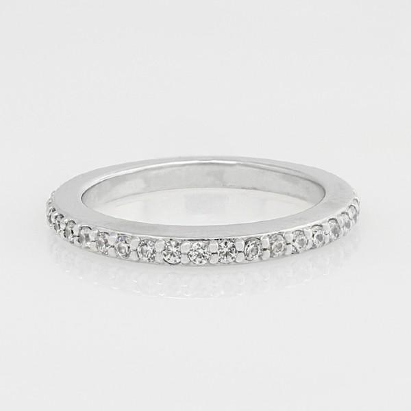 Nina Straight Matching Band - 14k White Gold - Ring Size 5.5