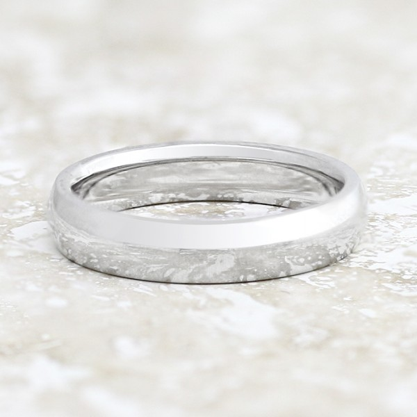 Comfort Fit 4mm Band - 14k White Gold - Ring Size 6.0