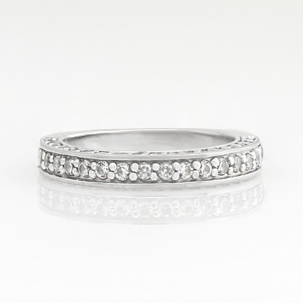 Modified Marvala Matching Band - 14k White Gold - Ring Size 4.0-5.0