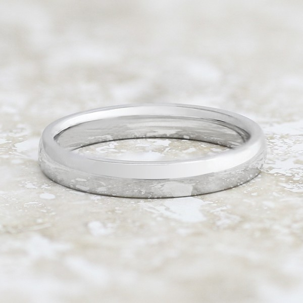 Smooth Finish 3mm Band - 14k White Gold - Ring Size 6.0