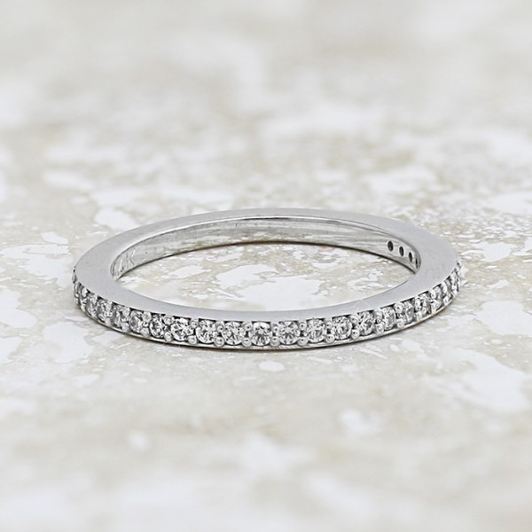 Rebecca Matching Band - 14k White Gold - Ring Size 6.25