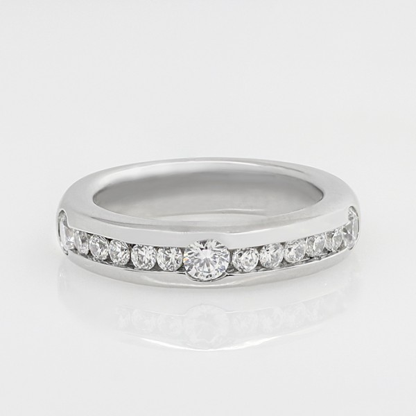Easy To Love with 0.72 Total Carat Weight - 14k White Gold - Ring Size 6.75