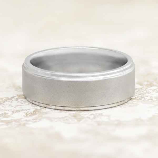 Men's Ring with Satin Finish - Cobalt - Ring Size 10.0