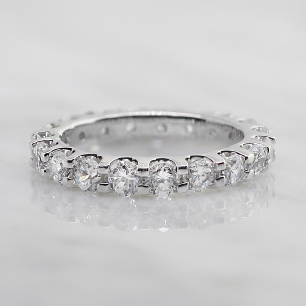 Oasis Ring - 2.20 Total Weight, 14k White Gold - Size 5.25