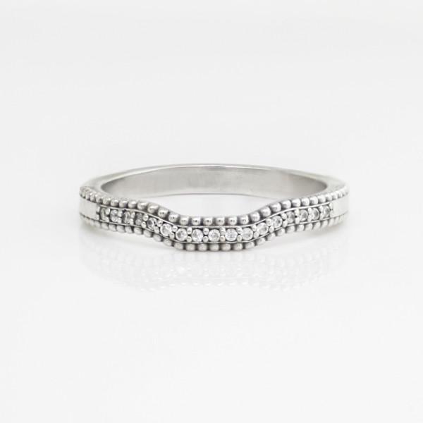Olive II Matching Band - 14k White Gold - Ring Size 6.25-8.25