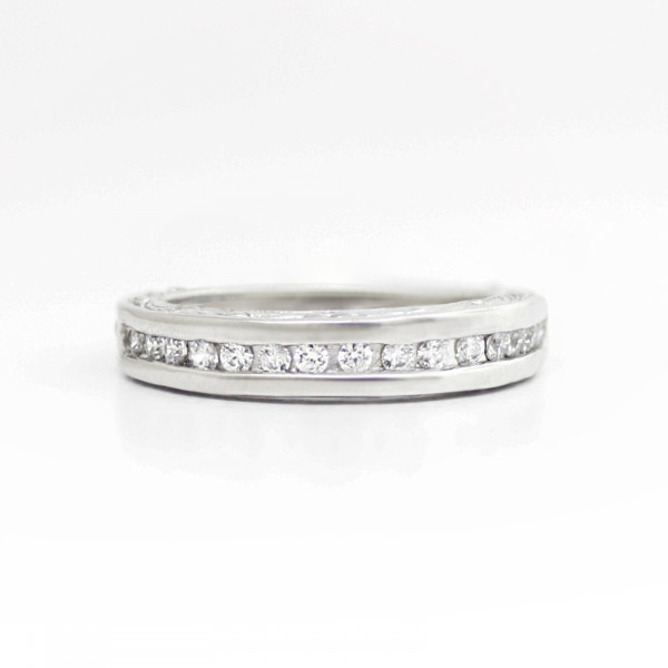 Ornate Band with 0.3 Total Carat Weight - Platinum - Ring Size 7.0