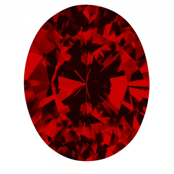 Ruby Oval Cut