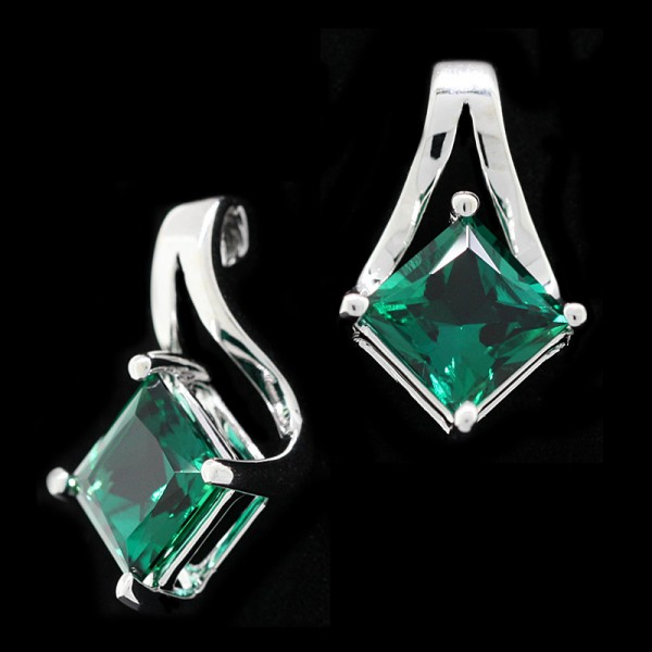 Emerald Isle - 14k White Gold - 2.01 Carats Each