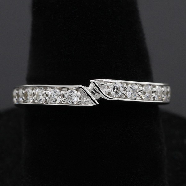 Leigh Matching Band - 14k White Gold - Ring Size 7.0