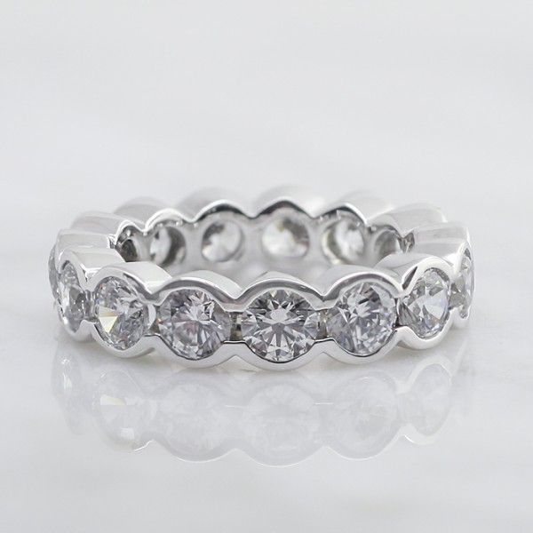 Discontinued Radiant Grace with 4.20 total carats - 14K White Gold - 7.25