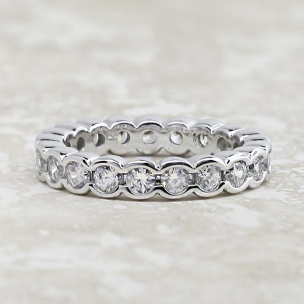 Radiant Grace - 4.20 carats, 14k White Gold - Size 5.75