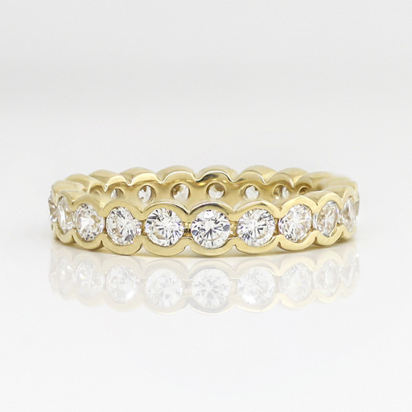 Retired Model Radiant Grace with 2.0 Total Carat Weight - 14k Yellow Gold - Ring Size 7.5