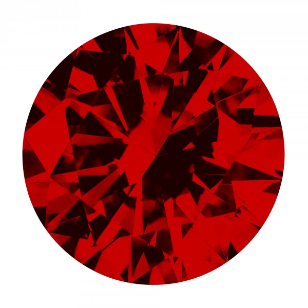 Ruby Round Brilliant Cut