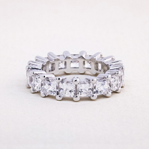 Semi-Custom Morning Star Bold with 6.63 Total Carat Weight - 14k White Gold - Ring Size 7.0