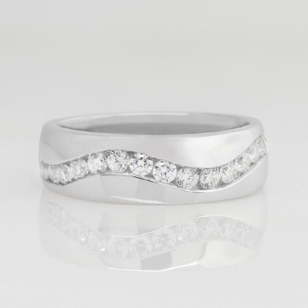 Sidewinder - 14k White Gold - Ring Size 10.5