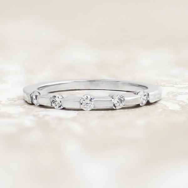 Tayla Matching Band - 14k White Gold - Ring Size 5.25