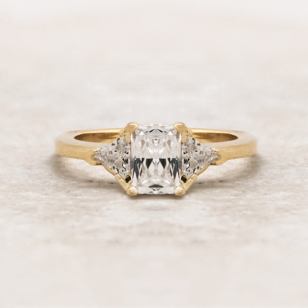 Retired Model Timeless with 1.14 Radiant Center - 14k Yellow Gold - Ring Size 5.75-6.75