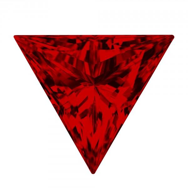 Ruby Triangle Cut