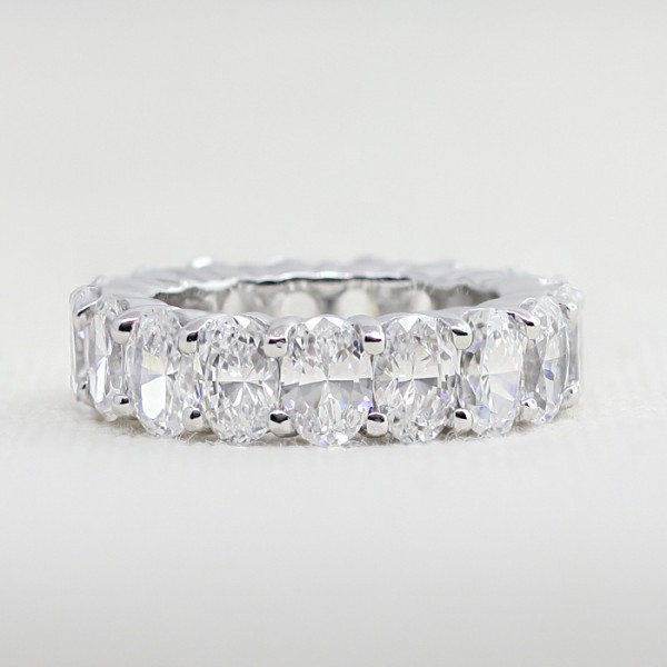 True Treasure with 9.75 Total Carat Weight - 14K White Gold - Ring Size 6.75
