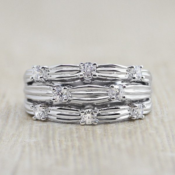 Weave Ring - Lorian Platinum - Ring Size 7.0