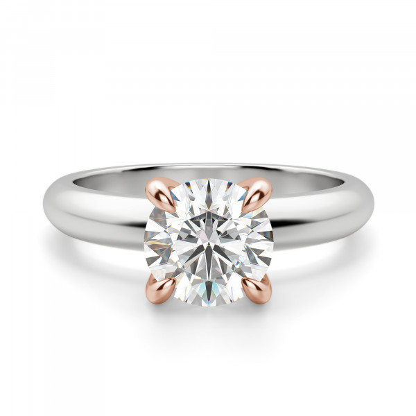 Claw Prong Round Cut Solitaire Engagement Ring