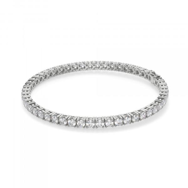 5.72 Carat Round Cut Tennis Bracelet