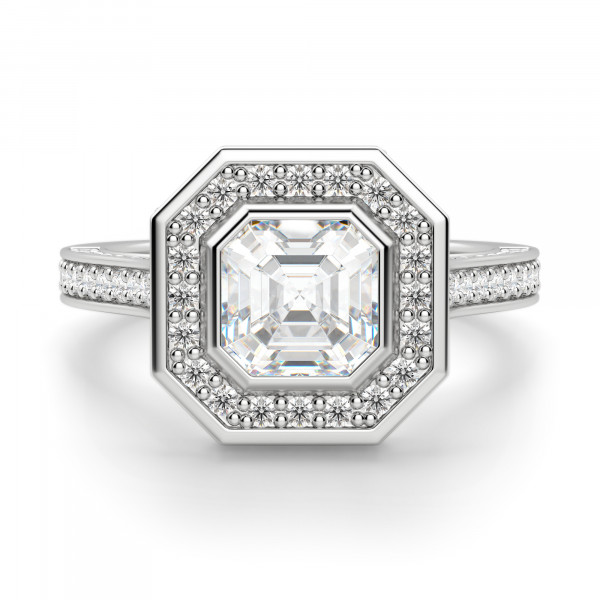Adelaide Asscher Cut Engagement Ring